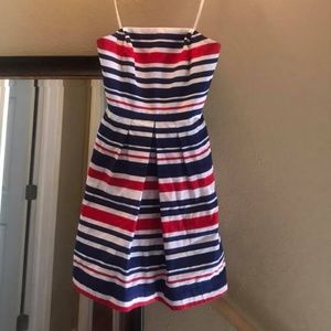 Vineyard Vines Red White & Blue Strapless Dress